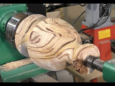 224  Wood-turning for beginners a *$155.00*  Greek urn from a $0.10 log Part 2