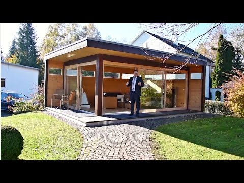 Modernes Gartenhaus My Lounge Xl Hummel Blockhaus Youtube