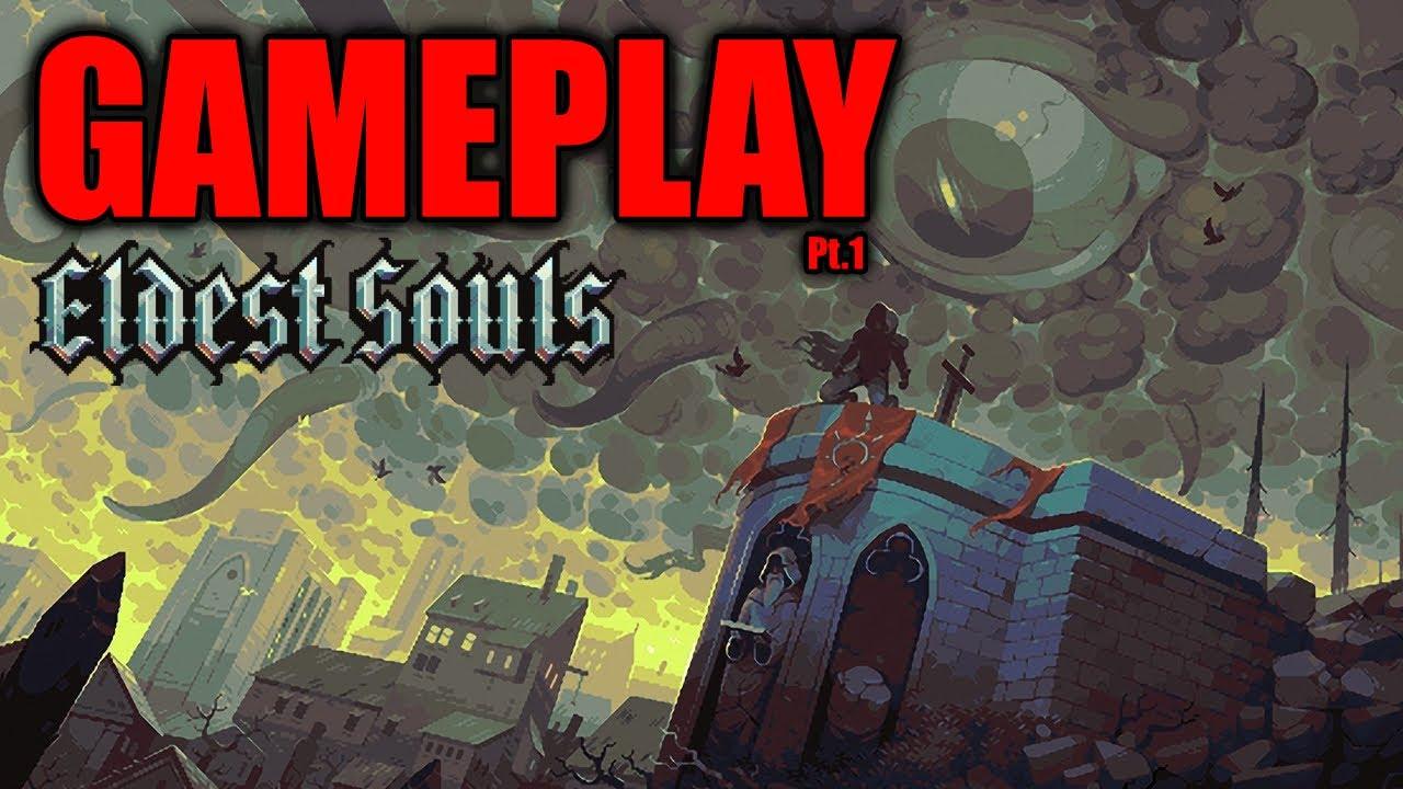 Eldest Souls Gameplay (2D Souls-like Action RPG)