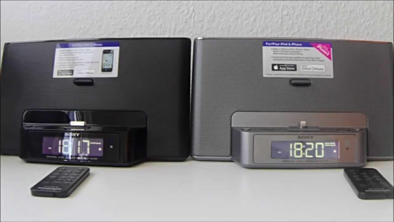 sony icf ds15ipn und icf ds15ipbn soundanlage f r iphone5 und iphone4 usw review youtube. Black Bedroom Furniture Sets. Home Design Ideas