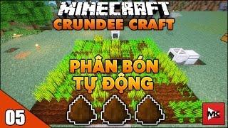 Hệ Thống Bón Cây Bằng Phân Bò - Minecraft Crundee Craft [5] | MK Gaming