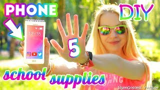 5 DIY Smartphone School Supplies – How To Make Phone Notebook, Pencil Case, Charm, Eraser And More