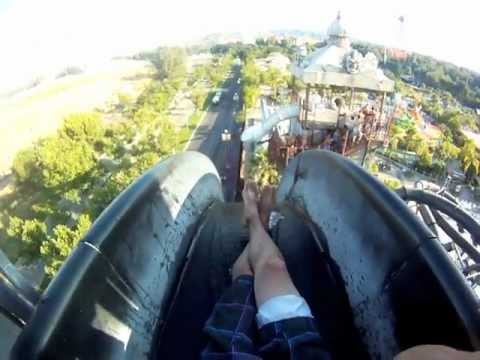 Six Flags Magic Mountain Hurricane Harbor 2011 gopro movie pov!