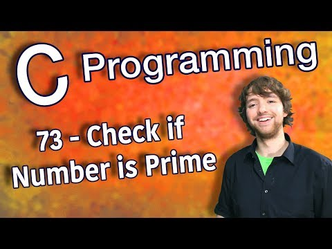 C Programming Tutorial 73 - Check if Number is Prime (Counting Prime Numbers Part 2) thumbnail