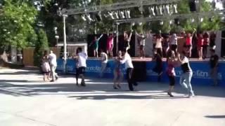 DORIAN COUTO  CAROLINA MARCONI.Inaugurazione Mondofitness 2012.coreografia del maestro GAROFALO