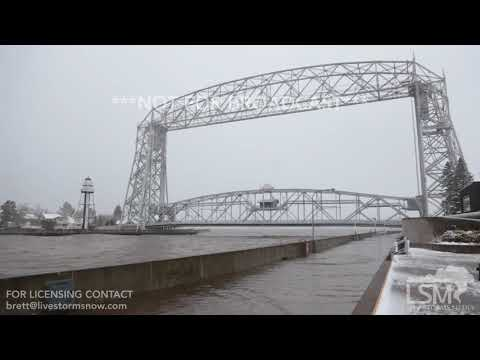 10-27-2017 Duluth, MN-Duluth's Canal Park Destroyed by High Winds and Waves