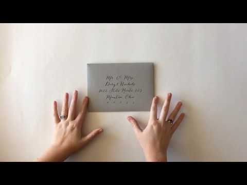How To Assemble Your Wedding Invitation Suite