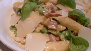 Penne pasta recipe with pancetta