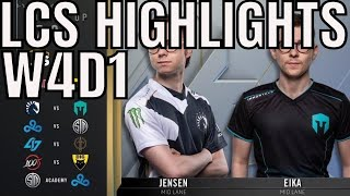LCS Highlights ALL GAMES Week 4 Day 1 Spring 2020 League of Legends Championship Series