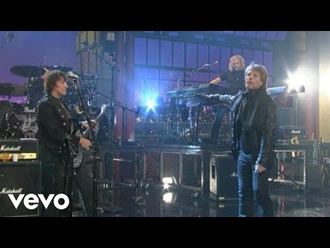 Bon Jovi - Keep The Faith (Live on Letterman)