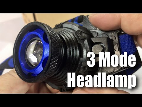 3 Modes, Zoomable, Rechargeable LED Headlamp Headlight by STCT Street Cat review