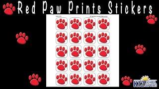 Paw Print Stickers - Animal Stickers - Teacher Supplies