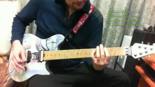 Как играть Metallica - Fuel на гитаре