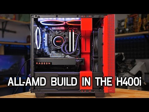 Building a $1700 All-AMD PC in the NZXT H400i! R7 1700 + Vega56