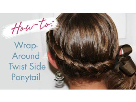 Wrap Around Twist Side Ponytail Cute Girls Hairstyles