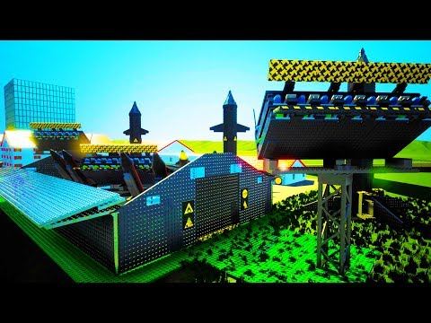 GIANT NUCLEAR MISSILE BASE DEMOLISHES CITY OF BRICKSVILLE - Brick Rigs Workshop Creations Gameplay