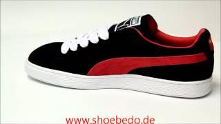 fcee5931d415 Puma Suede Classic Eco Black-Ribbon Red ...