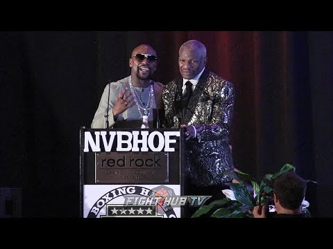 FLOYD MAYWEATHER JR GIVES FATHER EMOTIONAL INDUCTION SPEECH AT 2019 NEVADA BOXING HALL OF FAME