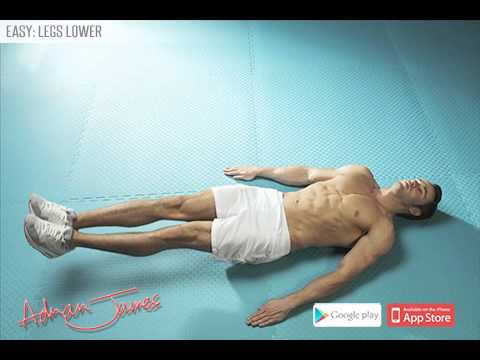 Adrian James 6 Pack Abs Workout - Legs Lower