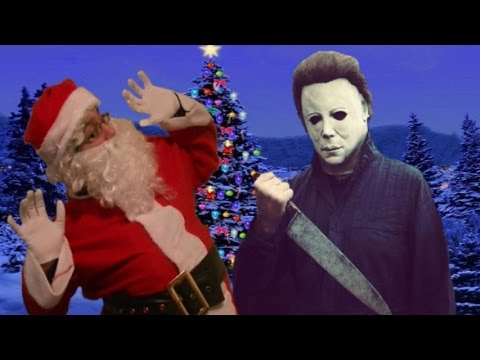 Michael Myers Vs Santa Claus - YouTube