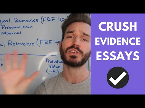 How To Analyze Legal Relevance On An Evidence Essay (FRE 403)