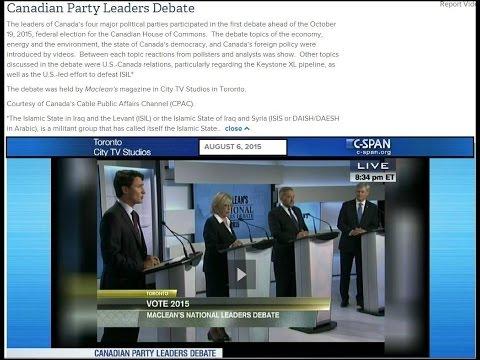 Canadian Party Leaders Debate - August 6 2015