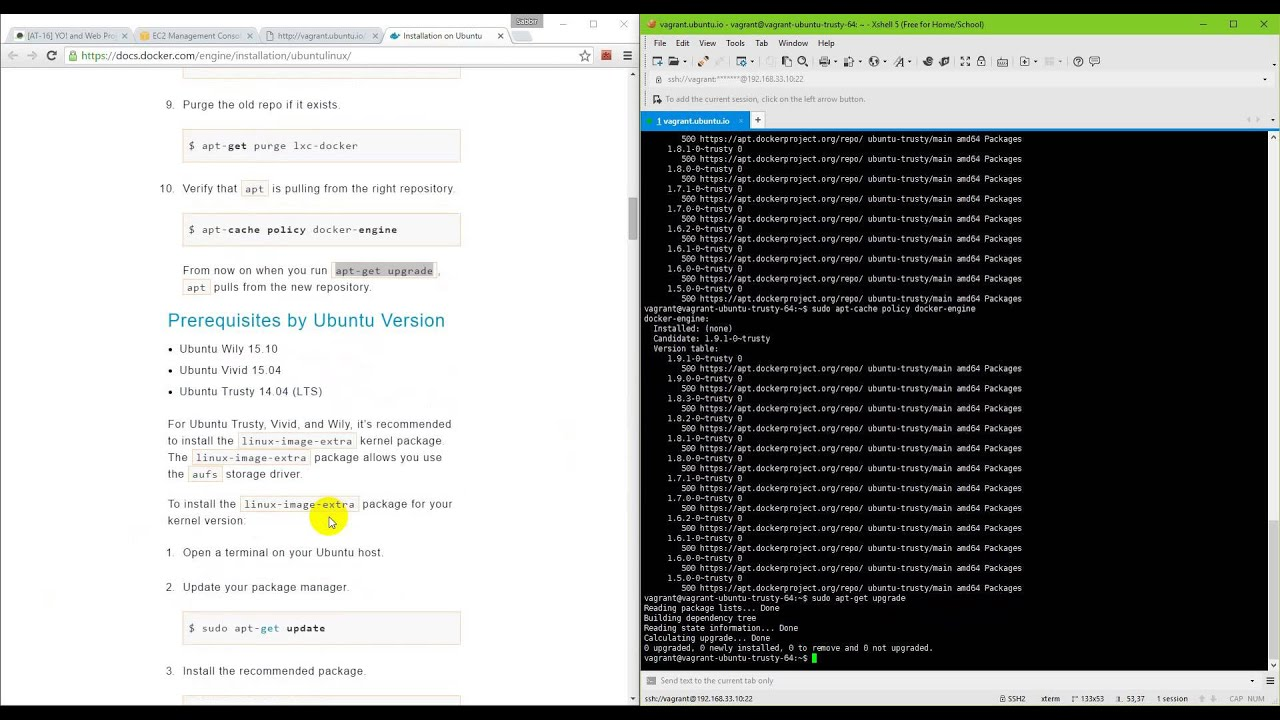 Install Docker inside Ubuntu or Inside windows using vagrant (Install  docker in below 5 mins)