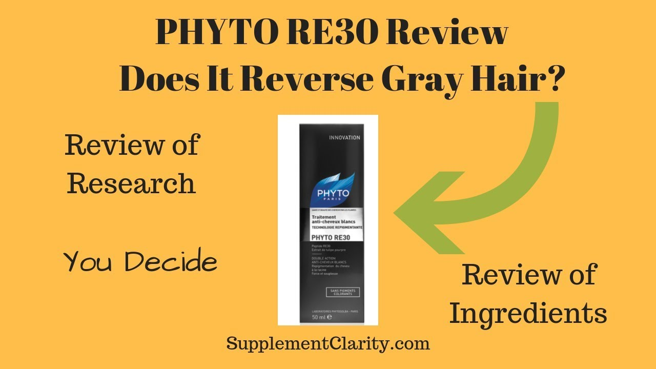 phyto re30 review does it reverse gray hair youtube. Black Bedroom Furniture Sets. Home Design Ideas