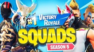FORTNITE SQUADS w/  FRIENDS!! *SEASON 5* // 1,200 WINS // 23,400+ FRAGS (Fortnite Battle Royale)