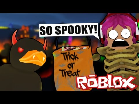 SPOOKY HALLOWEEN TRICK OR TREATING | Roblox Obby