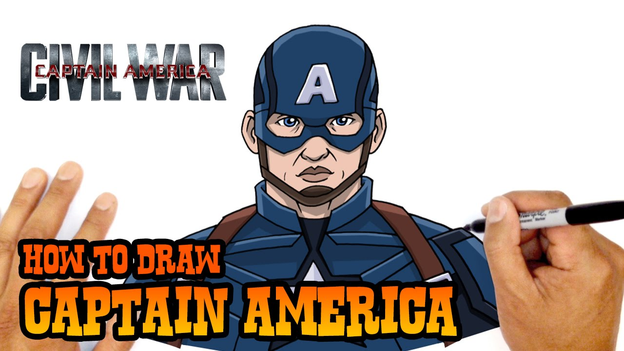 How To Draw Captain America The Avengers Youtube