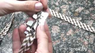 видео Лапка для вшивания косой бейки ( универсальная )