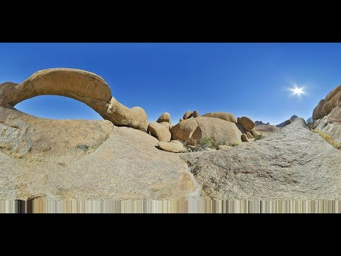 360 VR Video of Spitzkoppe, Nomad Africa Adventure Tours - Namibia