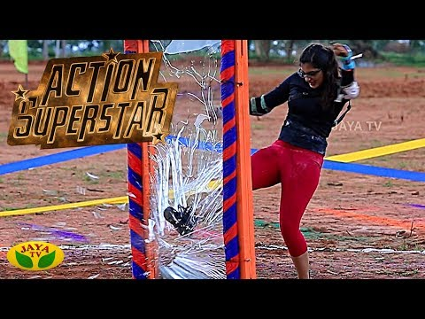 Action SuperStar is a fun filled and also a thrill action show Hosted by actor and model Ganesh Venkatraman. This show's contestants are a set of young and energetic girls. On every week basis Ganesh Venkatraman conducts various thrilling and exciting games and the based on the girls' performances in the tasks they are provided with marks. This is a kind of series show with continuity. This game show is yet more interesting as it is conducted mostly in various attractive outdoor locations  SUBSCRIBE to get more videos  https://www.youtube.com/user/jayatv1999  Watch More Videos Click Link Below  Facebook - https://www.facebook.com/JayaTvOffici...  Twitter - https://twitter.com/JayaTvOfficial  Instagram - https://www.instagram.com/jayatvoffic... Category Entertainment    Nalai Namadhe :          Alaya Arputhangal - https://www.youtube.com/playlist?list=PLljM0HW-KjfovgoaXnXf53VvqRz_PxjjO          En Kanitha Balangal - https://www.youtube.com/playlist?list=PLljM0HW-KjfoL5tH3Kg1dmE_T7SEpR1J2          Nalla Neram - https://www.youtube.com/playlist?list=PLljM0HW-KjfoyEm5T9vnMMmetxp4lMfrU           Varam Tharam Slogangal - https://www.youtube.com/playlist?list=PLljM0HW-KjfrPZXoXHhq-tTyFEI9Otu8P           Valga Valamudan - https://www.youtube.com/playlist?list=PLljM0HW-KjfqxvWw7jEFi5IeEunES040-          Bhakthi Magathuvam - https://www.youtube.com/playlist?list=PLljM0HW-KjfrT5nNd8hUKoD49YSQa-2ZC          Parampariya Vaithiyam - https://www.youtube.com/playlist?list=PLljM0HW-Kjfq7aKA2Ar4yNYiiRJBJlCXf  Weekend Shows :           Kollywood Studio - https://www.youtube.com/playlist?list=PLljM0HW-Kjfpnt9QDgfNogTN66b-1g_T_         Action Super Star - https://www.youtube.com/playlist?list=PLljM0HW-Kjfpqc32kgSkWgCju-kGDWhL7         Killadi Rani - https://www.youtube.com/playlist?list=PLljM0HW-KjfrSjkWIvbThxx7C9vwe5Vhv         Jaya Star Singer 2 - https://www.youtube.com/playlist?list=PLljM0HW-KjfoOaotcyX3TvhjuEJgGEuEE          Program Promos - https://www.youtube.com/playlist?list=PLljM0HW-KjfqeGwhWF4UlIMTB7xj_o38G        Sneak Peek - https://www.youtube.com/playlist?list=PLljM0HW-Kjfr_UMReYOrkhfmYEbgCocE4   Adupangarai :        https://www.youtube.com/playlist?list=PLljM0HW-Kjfpl9ndSANNVSAgkhjm-tGRJ       Kitchen Queen - https://www.youtube.com/playlist?list=PLljM0HW-KjfqKxPq0lVYJWaUhj9WCSPZ7       Teen Kitchen - https://www.youtube.com/playlist?list=PLljM0HW-KjfqmQVvaUt-DP5CETwTyW-4D        Snacks Box - https://www.youtube.com/playlist?list=PLljM0HW-KjfqDWVM-Ab0fwHq-5IHr9aYo       Nutrition Diary - https://www.youtube.com/playlist?list=PLljM0HW-KjfpczntayxtWflRzGK7sDHV        VIP Kitchen - https://www.youtube.com/playlist?list=PLljM0HW-KjfqASHPpG3Er8jYZumNDBHVi        Prasadham - https://www.youtube.com/playlist?list=PLljM0HW-Kjfo__pp2YkDMJo2AzuDWRvxe       Muligai Virundhu - https://www.youtube.com/playlist?list=PLljM0HW-KjfpqbpN4kJRURdSWsAM_AWyb   Serials :      Gopurangal Saivathillai - https://www.youtube.com/playlist?list=PLljM0HW-Kjfq2nanoEE8WJPvbBxusfOw-      SubramaniyaPuram - https://www.youtube.com/playlist?list=PLljM0HW-KjfqLgp2J6Y6RgLQxBhEUsqPq   Old Programs :      Unnai Arinthal : https://www.youtube.com/playlist?list=PLljM0HW-KjfqyINAOryNzyqgkpPiY3vT1     Jaya Super Dancers : https://www.youtube.com/playlist?list=PLljM0HW-KjfqNVozD5DVvr6LJ2koLrZ2x