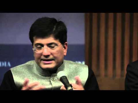Minister Piyush Goyal answers questions on renewable energy