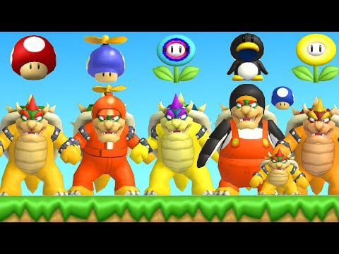 All Bowser Power-Ups in New Super Mario Bros. Wii