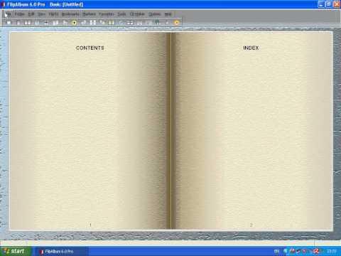 ส่วนประกอบของโปรแกรม Flipalbum