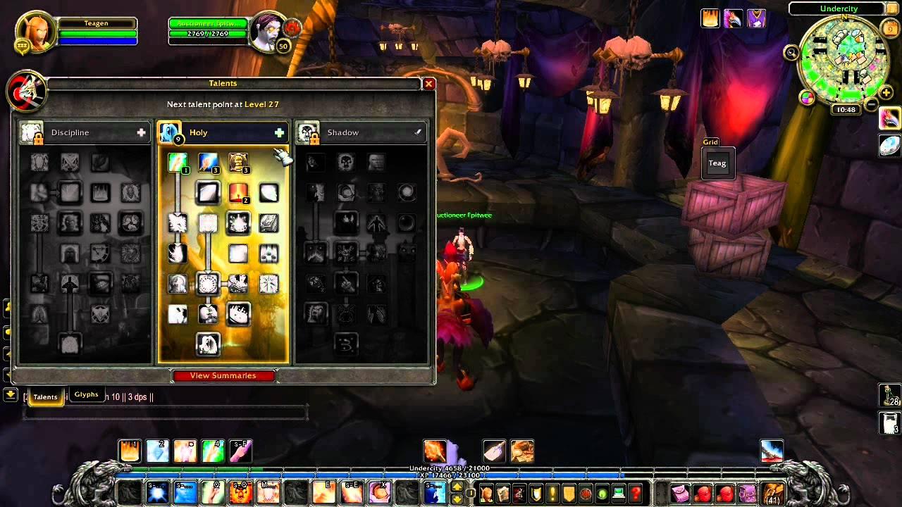Level 19 priest twink glyphs