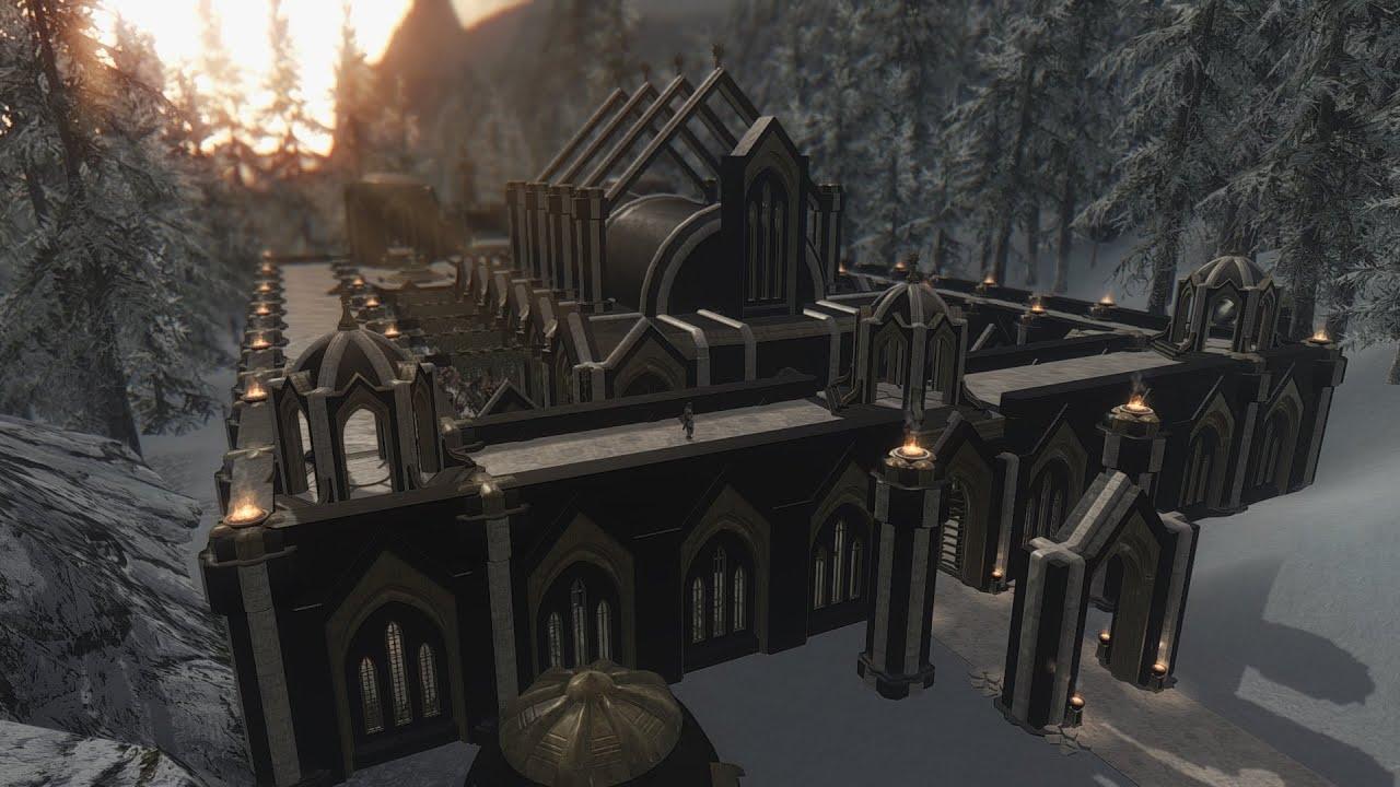 Snow Elf Palace Skyrim Youtube