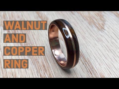 Смотреть Creating a Walnut and Copper Bentwood Ring онлайн