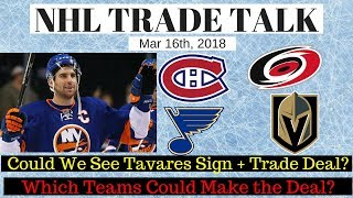 NHL Trade Talk - Islanders Tavares Sign & Trade?