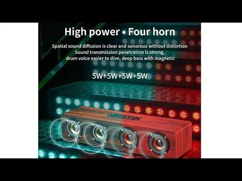 [Link in Description] LIVE TECH JALSA WOODEN SPEAKER | RS. 1499/- | 4000 MAH Battery | Nut Brown