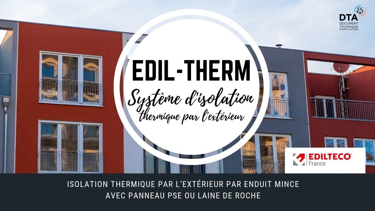 Download Mise en œuvre du système d'Isolation Thermique par l'extérieur EDIL-Therm®