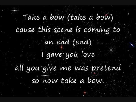 take a bow by leona lewis lyrics
