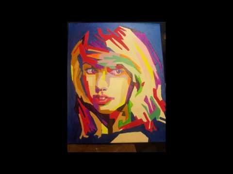 Taylor Swift Popart painting by J Bancroft