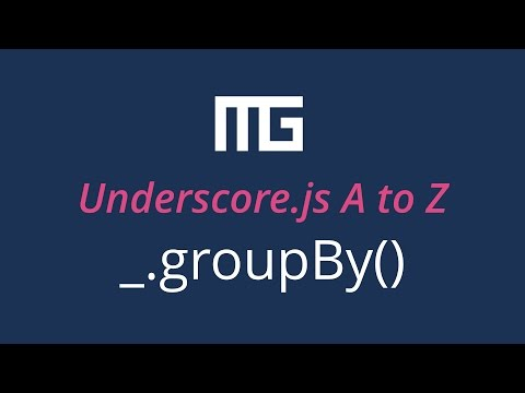 Underscore.js groupBy function // _.groupBy()