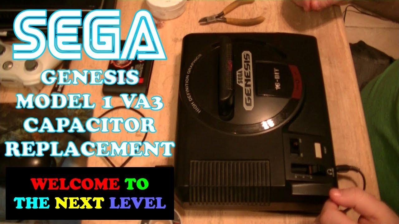 Sega Genesis Model 1 VA3 Cap Replacement
