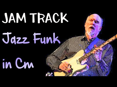 Jazz Funk Guitar Backing Track Dorian Jam in Cm