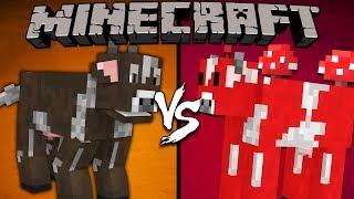 Cow vs. Mooshroom - Minecraft