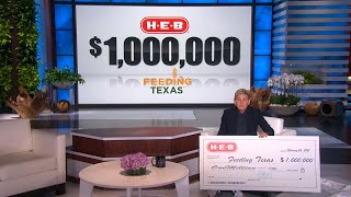 Ellen Announces $1 Million Donation from H-E-B to Feeding Texas!